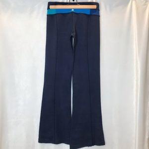 Lululemon navy/teal/blue groove pant